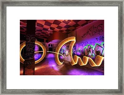 Paint The Room With Light Framed Print by Gunnar Heilmann