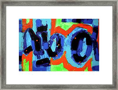 Paint What You Feel Not What You See Framed Print by John  Nolan
