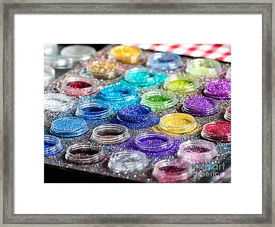 Paint With Glitter And Gloss For Body Puposes Framed Print