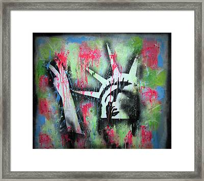 Paintball Peace Framed Print by Robert Wolverton Jr