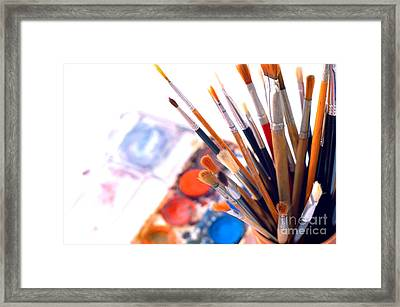 Paintbox And Brushes Framed Print