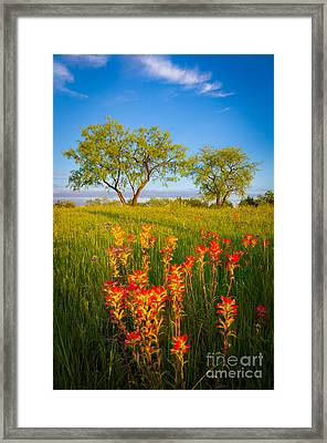 Paintbrush On Fire Framed Print