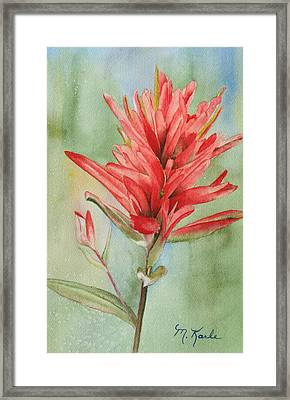 Paintbrush Portrait Framed Print