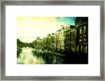 Painted Amsterdam Framed Print by Andrea Barbieri