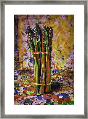 Painted Asparagus Framed Print
