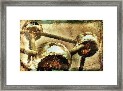 Painted Atomium Framed Print