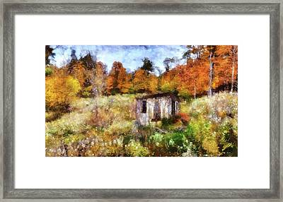 Painted Autumn Clearing Framed Print