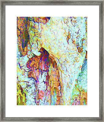 Painted Bark I Framed Print by Chris Andruskiewicz