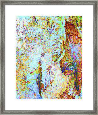Painted Bark II Framed Print by Chris Andruskiewicz