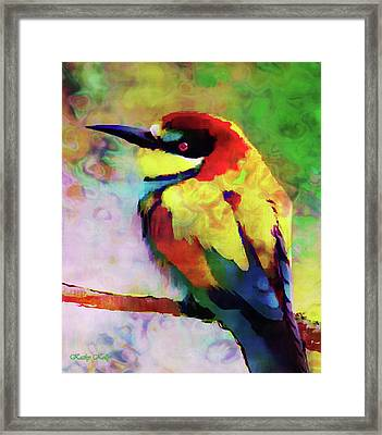 Painted Bee Eater Framed Print