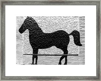 Painted Black - Stone Pony Framed Print by Colleen Kammerer