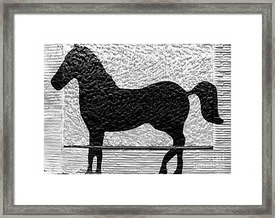 Painted Black - Stone Pony Framed Print
