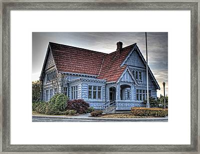 Painted Blue House Framed Print