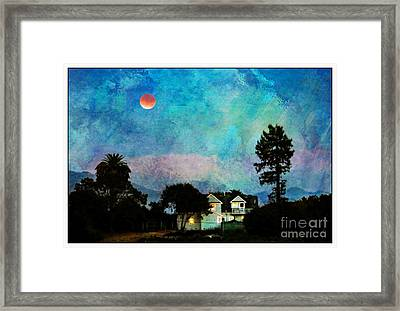 Painted By Fog And Moonlight Framed Print