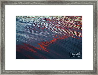 Painted By Nature - Water On The Flight Through The Fiery Skies Framed Print