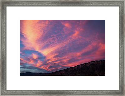 painted by Sun Framed Print