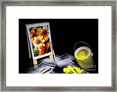 Painted Canvas Framed Print