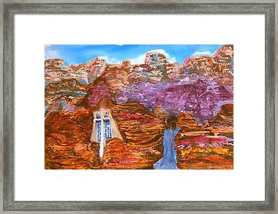 Painted Canyon Church Framed Print by Margaret G Calenda