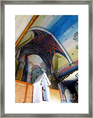 Painted Church 2 Framed Print by Randall Weidner