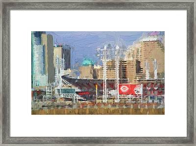 Painted Cincinnati Ohio Framed Print by Dan Sproul