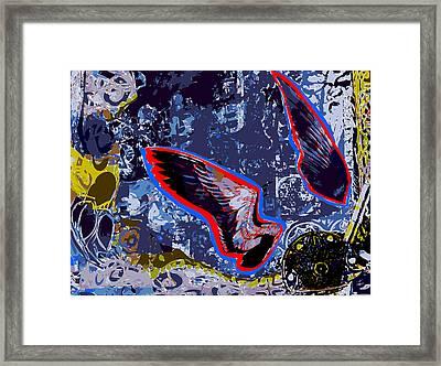 Two Bird Wings In Landscape Framed Print by F Burton