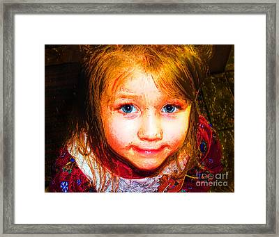 Painted Cute Framed Print by Jack Norton