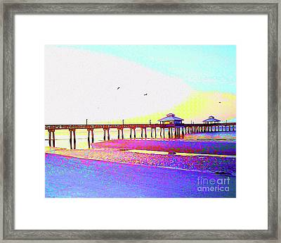 Painted Dawn Breaking Framed Print by Chris Andruskiewicz