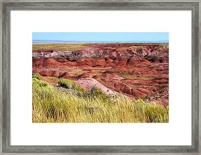 Painted Desert 0242 Framed Print by Sharon Broucek