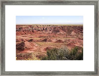 Painted Desert 0249 Framed Print by Sharon Broucek