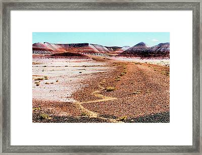 Painted Desert 0319 Framed Print by Sharon Broucek