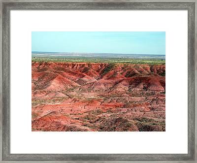 Painted Desert 3 Framed Print by Jeanette Oberholtzer