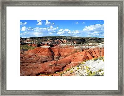 Painted Desert Framed Print by Barry Shaffer