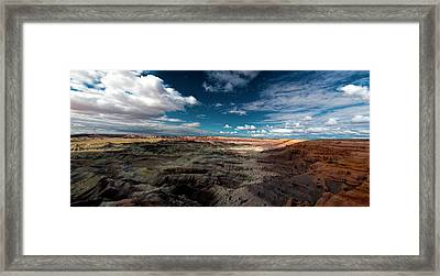 Framed Print featuring the photograph Painted Desert by Charles Ables