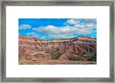 Painted Desert Framed Print by Charlotte Schafer