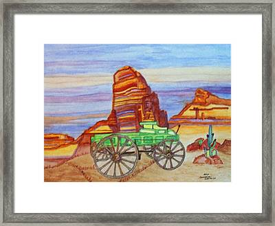 Framed Print featuring the painting Painted Desert by Connie Valasco