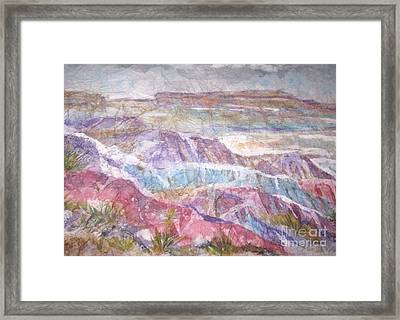Framed Print featuring the painting Painted Desert by Ellen Levinson