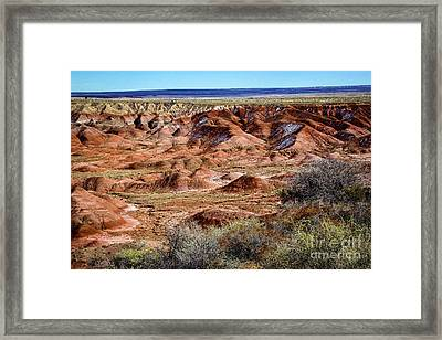 Painted Desert In Winter Framed Print