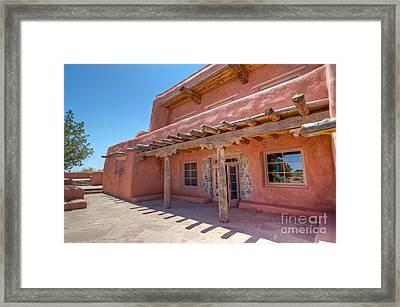Painted Desert Inn Back Terrace Framed Print by Bob and Nancy Kendrick