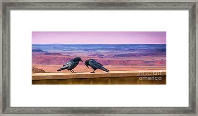 Painted Desert Pals Framed Print