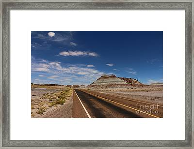 Painted Desert Road Framed Print by Christiane Schulze Art And Photography