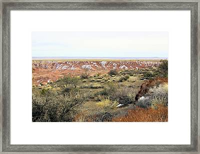 Painted Desert Winter 0571 Framed Print by Sharon Broucek
