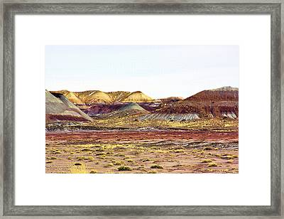 Painted Desert Winter 0602 Framed Print by Sharon Broucek