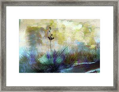 Painted Desertscape Framed Print by Barbara Chichester