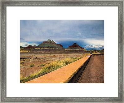 Painted Dessert Framed Print by Brendan Quinn