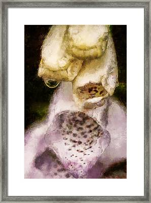 Framed Print featuring the digital art Painted Droplets by Cameron Wood