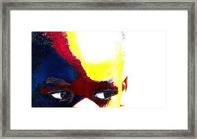 Painted Face 1 Framed Print by LeeAnn Alexander