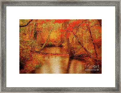 Painted Fall Framed Print