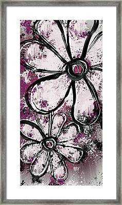 Painted Flowers 4 Framed Print by Melissa Smith