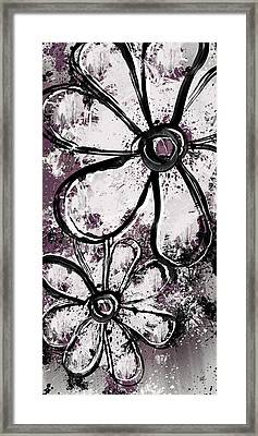 Painted Flowers 5 Framed Print