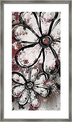 Painted Flowers 7 Framed Print by Melissa Smith